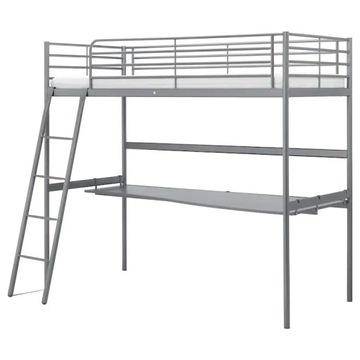 Łóžko z biurkiem oraz materacem IKEA