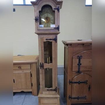 Zegar stojący dębowy