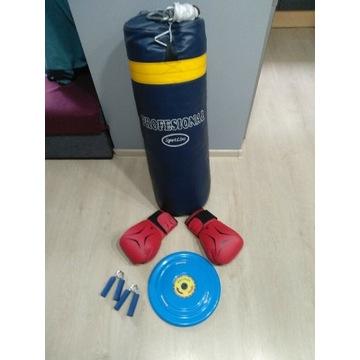 Worek bokserski, treningowy, rękawice i gratis