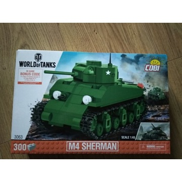 Zestaw klocków Cobi M4 Sherman z kodami do wot