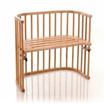 Łóżeczko Dostawne w kolorze drewna