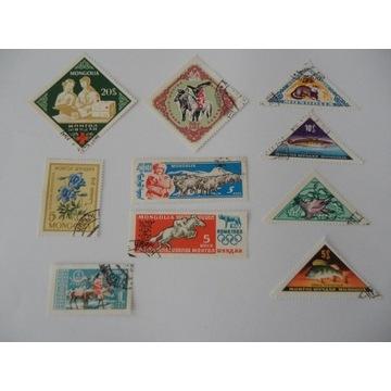 Stare znaczki Mongolia 10 sztuk