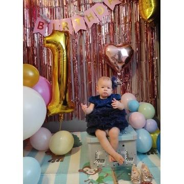 Cukenka na roczek,pierwszy urodziny,z kokardką