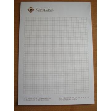 blok papier firmowy listowy płyty KZPP Koniecpol
