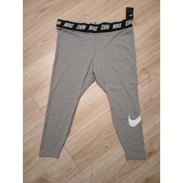 Nike szare legginsy z logo r. XXL