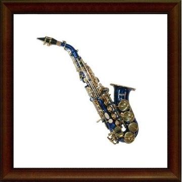 Saksofon sopranowy K.Glaser niebieski M019