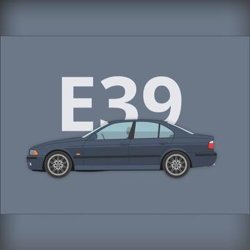 Plakat BMW 5 (E39) 50x70cm youngtimer prezent