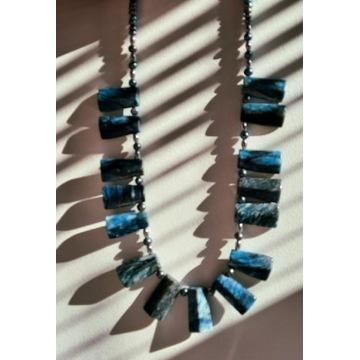 Naszyjnik jaspis perła rzeczna hematyt