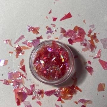 Folia transferowa różowa żywica 2g ozdoba