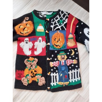 Sweter Halloween vintage L