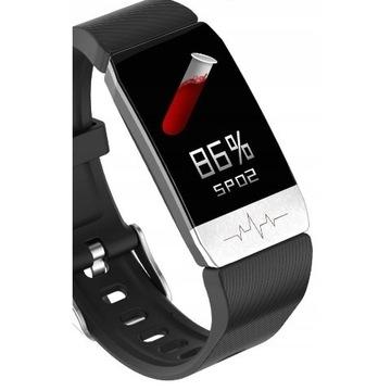 Inteligentna opaska smartband krokomierz termometr