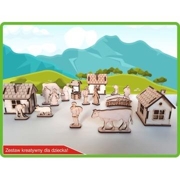 Kreatywne klocki 3D zestaw do malowania wieś