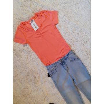 Koszulka prążek pomarańcz
