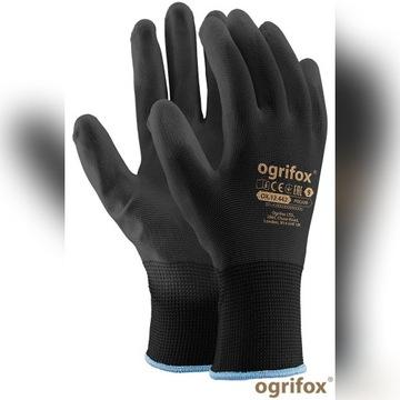 240 par Rękawice robocze poliuretanowe czarne r.10