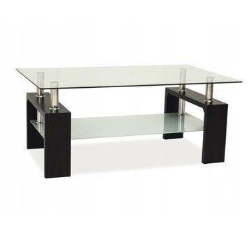 Ława szklana, stolik kawowy do salonu A08-2 wenge