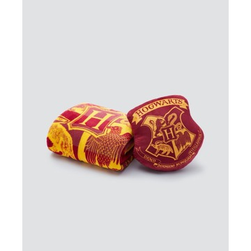 Koc i poduszka Harry Potter Hogwart komplet