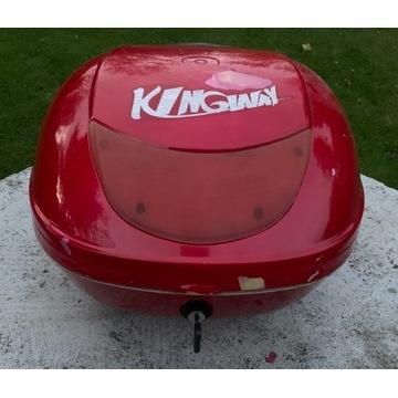 Kufer do skutera czerwony Kingway