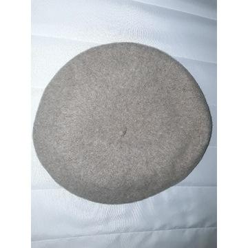 Tanio beret beżowy 56 cm jasny brąz bdb