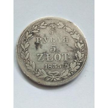 3/4 rubla 5 Złotych 1835