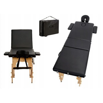 Łóżko składane do masażu czarne