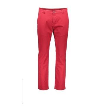 Spodnie Chino Bugatti, r. 32/34, czerwone