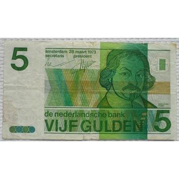 Holandia 5 guldenów 1973 Poeta Jost van den Vondel