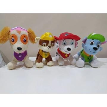 4 maskotki Psi Patrol Marschall,Skye,Rabble,Rocky