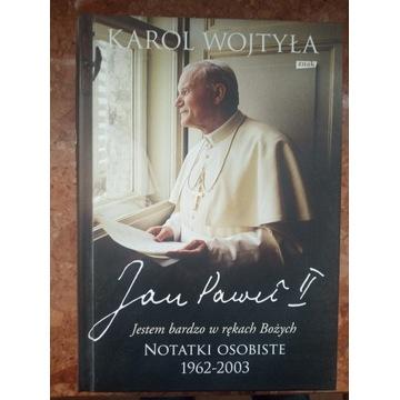 Karol Wojtyła Jestem bardzo w rękach Bożych notatk