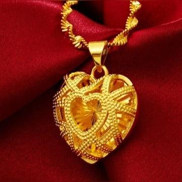 Łańcuszek i serce 18k