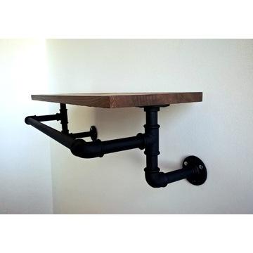 Półka, wieszak loft z rur hydraulicznych
