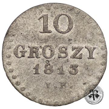 Polska Księstwo Warszawskie 10 groszy 1813 IB