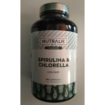 Spirulina i Chlorella NATURALIE 180 kaps bez GMO