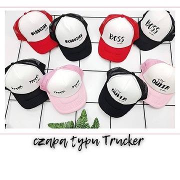 czapka z daszkiem Trucker dla chłopca nadruk