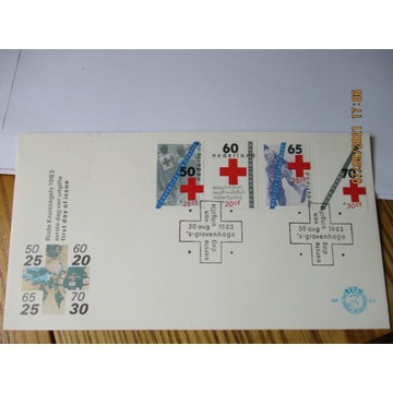 koperta HOLANDIA red cross CZERWONY KRZYŻ FDC 1983