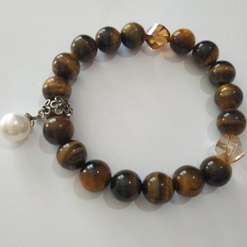 Bransoletka amulet talizman Tygrysie oko prezent