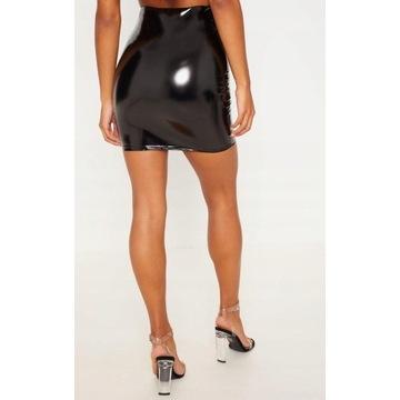 Spódniczka czarna vinyl używana noszona