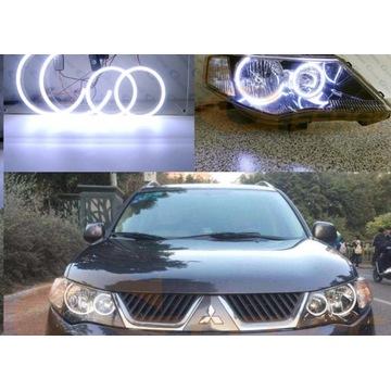 Oświetlenie LED oczy anioła Mitsubishi Outlander 2