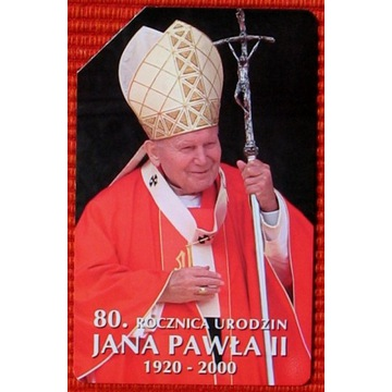 KT 845 - 80 r. urodzin Jana Pawła II
