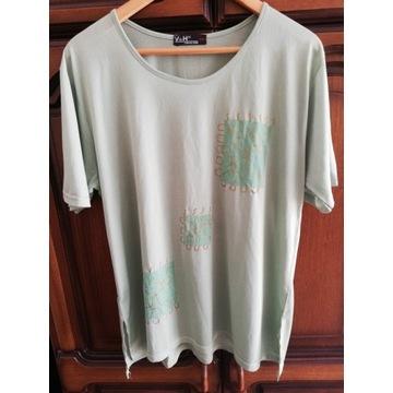 Damska zielona koszulka firmy V&H, rozmiar XXL