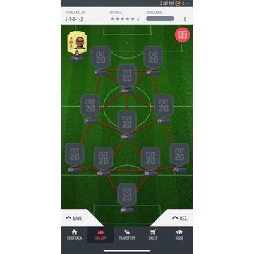 Konto Fifa Ultimate Team FUT 20 PS4 2,4 mln coins