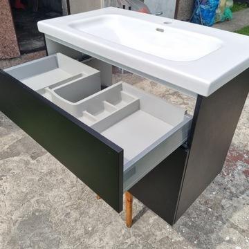 szafka łazienkowa wisząca ze zlewem