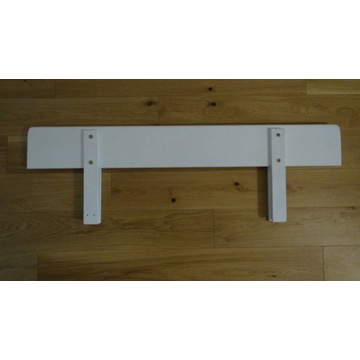 Barierka ochronna, biała, drewniana, DPD GRATIS.