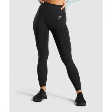 Gymshark legginsy vital seamless legging black S