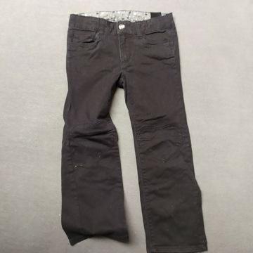 Spodnie jeansy H&M 110 czarne jak nowe