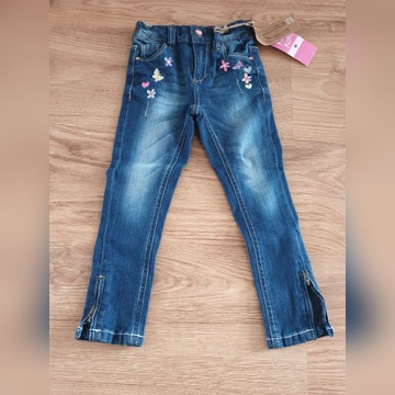 Dziecięce spodnie dżinsowe dla dziewczynki r. 98