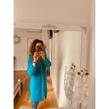 Płaszczyk baranek Answear S niebieski
