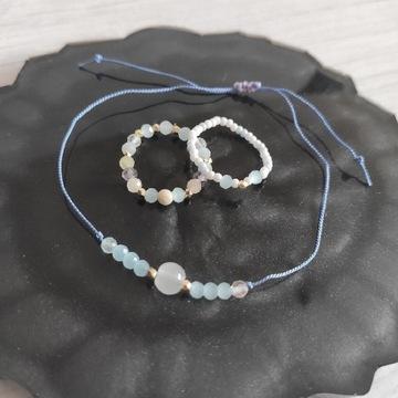 Biżuteria bransoletka i dwa pierścionki