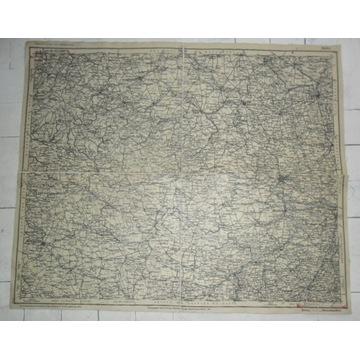 Mapa HALLE 1907.Buchhandlung Breslau.Wrocław
