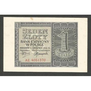 1 złoty 1.8.1941 AE stan I-