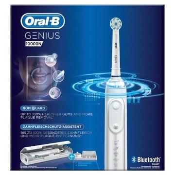 Szczoteczka Oral-B Genius 10000 biała + 4 końcówki